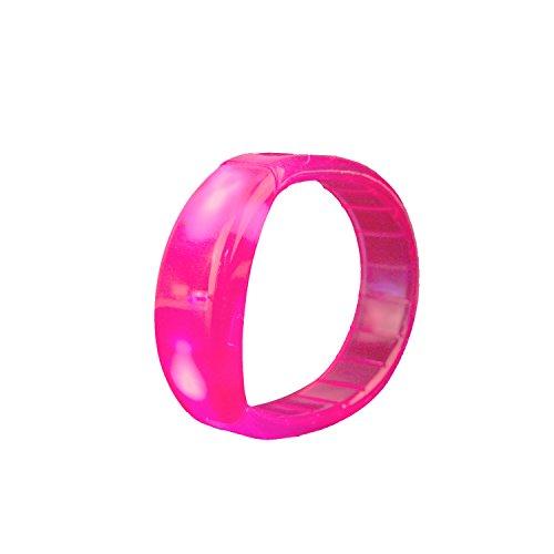 LED Bracelet Party Favors, DAXIN DX Light up Flash Bracelet Toys Fluorescence Stick for Kids Adults Nightclub Bar Disco Halloween Pink