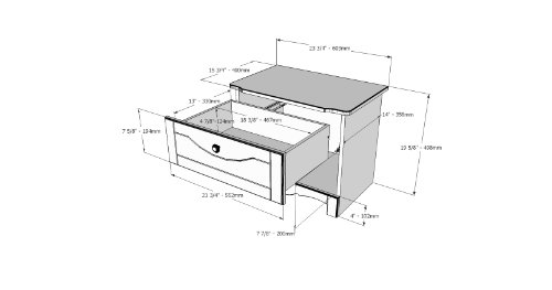 offer cheap dixie night stand 310103 from nexera white sale