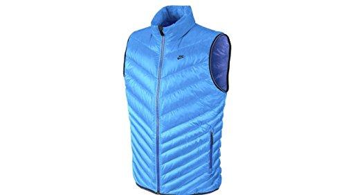 Nike Vest Jacket (Nike Mens Puffy Vest Size XL Blue)