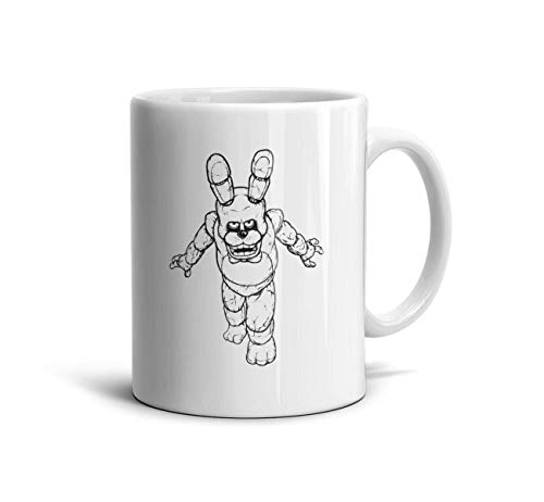 AWAWEE Tremendous-coloring-pages-five-nights-at-freddy-s-3-print-and-color- White Casual Son Ceramic Coffee or TeaMugs Engagements Game 11 oz Height 9.5cm Gifts ()