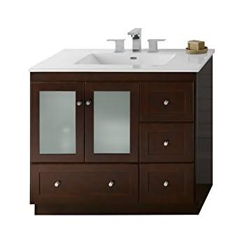 Ronbow Shaker 37 Inch Modular Bathroom Vanity Set In Dark