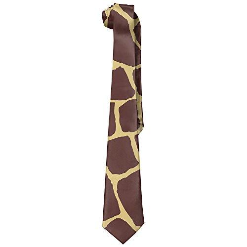 StoneBrand Men's Giraffe Skin Pattern Polyester Silk Necktie Skinny Tie
