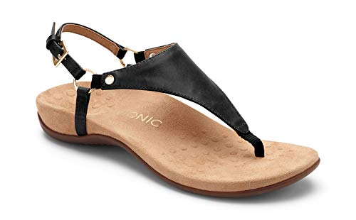 Vionic Women's Rest Kirra Backstrap Sandal - Ladies Sandals with Concealed Orthotic Arch Support Black 7.5M