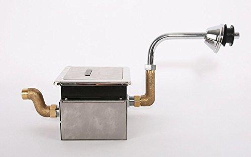 220V Concealed Sensor Urinal Flush Valve Wall Mount Stainless Steel