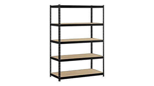 Mùsclè Rack 5-Shelf Steel Shelving, Black Steel Shelving with Z-Beam Construction by Mùsclè Rack (Image #1)