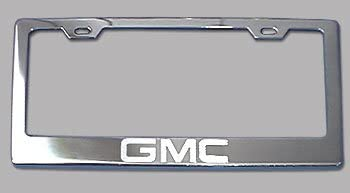 Stainless Steel Fit GMC Sierra Chrome License Plate Frame with Cap