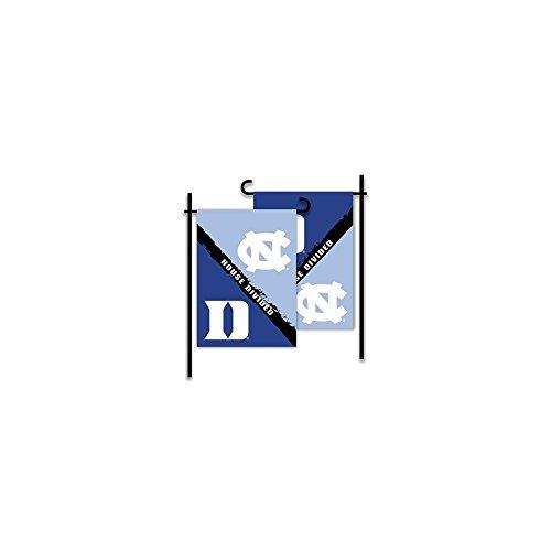 (NCAA Duke Blue Devils Rivalry House Divided 2-Sided Garden Flag, Team Color)