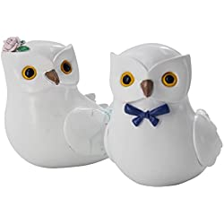 Snowy Owl Wedding Cake Topper Bride & Groom Love Bird Cake Topper, woodland wedding Decorations