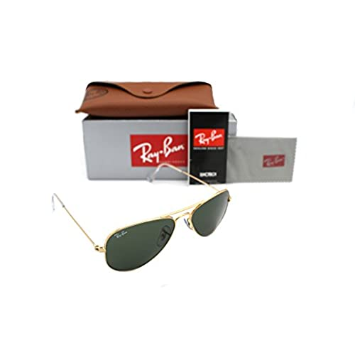 814bab7022ac30 outlet RAY BAN AVIATOR RB 3044 L0207 52mm GOLD FRAME W  G-15XLT GREEN