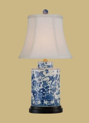 Lovely East Enterprises LPDBWN0810M Oval Table Lamp   Blue And White