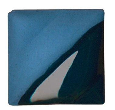 AMACO Velvet Lead-Free Non-Toxic Semi-Translucent Underglaze, 1 pt Jar, Teal Blue V-332