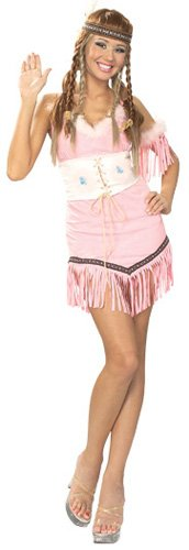 Secret Wishes Women's Indian Maiden Adult Costume, Multicolor, (Sacajawea Indian Maiden Costumes)
