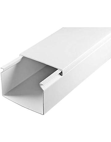 Kabelkanal Weiß 25 x 16mm Schraubbar TV Elektro Boden Leiste PVC 0,5m 1m 1,5m 2m