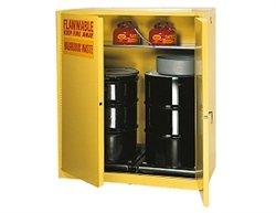 Vertical Drum Storage Cabinet - Eagle HAZ1992 Drum Storage Safety Cabinet, Manual closing, Vertical Drum, 2 Door, 43