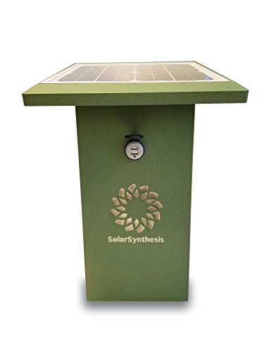 SuperCharge35 Solar Powered USB Charging Station in Weathered Bronze