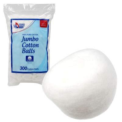 Jumbo New 216962 Sound Body 300Ct White Cotton Balls (16-Pack) Wholesale Bulk Health & Beauty Small Candle Holder