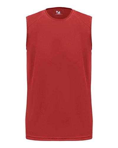 Red Youth Large Tank Top Sleeveless Wicking Shirt