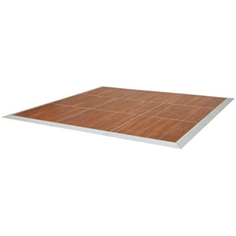 McCourt DF6X9 WO Ovation Indoor Outdoor Portable Dance Floor 3 X 3 Panels And Perimeter Trim 6 X 9 108 Width 72 Length Windsor Oak