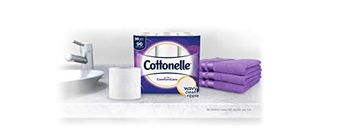 Cottonelle Ultra ComfortCare Toilet Paper, Soft Biodegradable Bath Tissue, Septic-Safe, 36 Family+ Rolls