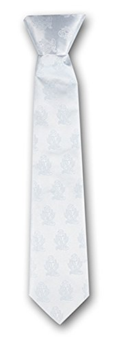 (Boys First Communion White Embroidered Necktie Accessory, 14)