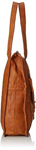 Pcabby épaule Noos Leather portés Marron Shopper Sacs Pieces Cognac qdYpxq