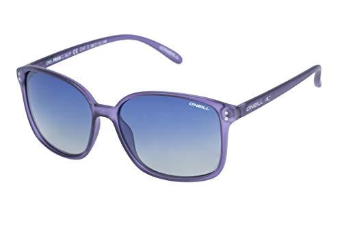 O'Neill Women's Praia Polarized Square Sunglasses, Matte Purple Crystal, 57 ()