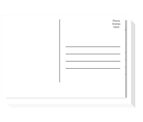 Jot & Mark Design Your Own Postcards | Blank Plain Mailable 4x6 Postcards on Heavy Cardstock (50 Pack) | Favorite Kids Activity, Personal Announcements, Write Your Representative (Photo Art Postcard)