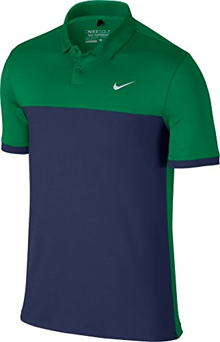 Nike Icon Color Block Golf Polo 2016 Lucid Green/Midnight Navy XX-Large
