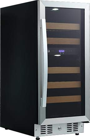 Fagor WC28DZ 15 Inch Built-In and Freestanding Dual Zone Wine Cooler with 28 Bottle Capacity, in Stainless Steel by Fagor Products (Image #1)