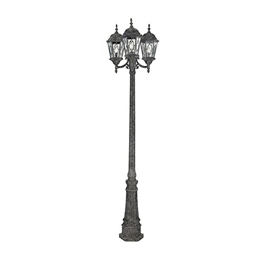 Transglobe Lighting 4719 SWI Lamp Post with Beveled Glass Shades, Swedish Iron - Pendant Outdoor Lamp Lighthouse