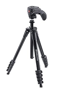 Manfrotto Compact Action Aluminum 5-Section Tripod Kit with Hybrid Head, Black (MKCOMPACTACN-BK) (B00L6F16L0) | Amazon Products