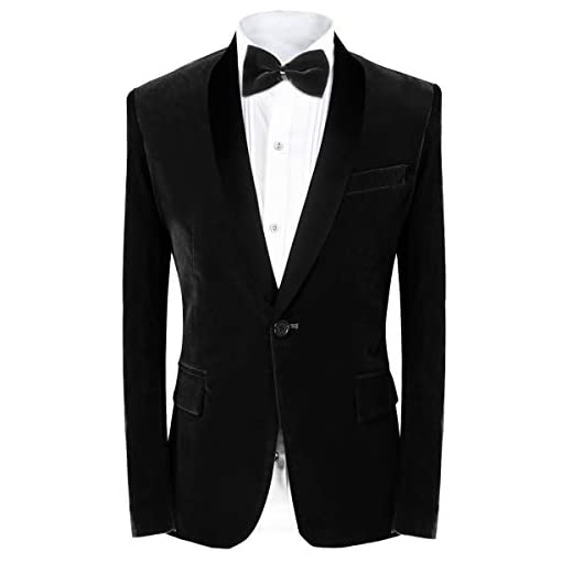 Mens Notch Lapel One Button Velvet Blazer Prom Party Jacket Wedding Dinner Tuxedos