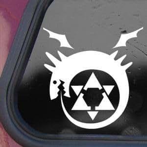 Full Metal Alchemist White Decal Sticker Wall Laptop Die-cut White Decal Sticker