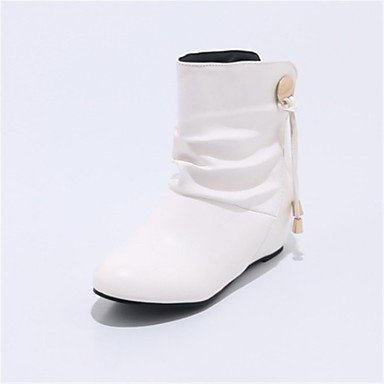 RTRY Women'S Shoes Leatherette Winter Fashion Boots Boots Wedge Heel Round Toe Mid-Calf Boots For Casual Dress Blushing Pink Black White US5 / EU35 / UK3 / CN34 ch26J6VO