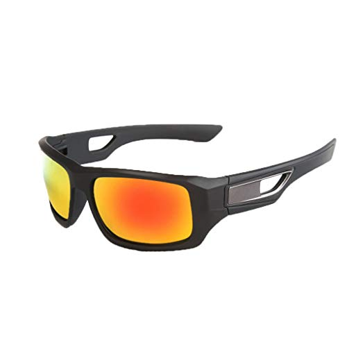 Polarized Sports Sunglasses for Men Women, Haluoo Mens Polarized Motorcycle Riding Glasses for Cycling Running Driving Fishing Golf Baseball Glasses Shades (Yellow)