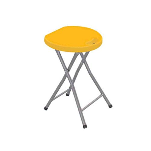- YCSD Folding Stool Portable Plastic Chair with Durable Steel Frame Legs for 220 Pound Capacity,Easy Carry Handle (Color : Yellow)