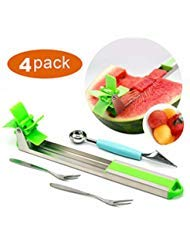 Stainless Steel Watermelon Slicer,Hand Manual Melon and Cantaloupe Fruit Slicer, Carver, Cutter, Knife-Easy Grip Kitchen Carving and Cutting Gadgets for Home, Professional Restaurant Chefs by AnmuX