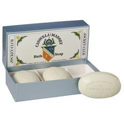 Caswell-Massey Jockey Club Bath Soap Box of Three 5.8 oz ea bar