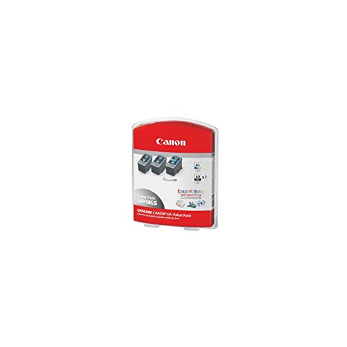 Canon 2 PG-40 + 1 CL-41 Ink Tank Cartridge, Black/Tri-Color (3 ()