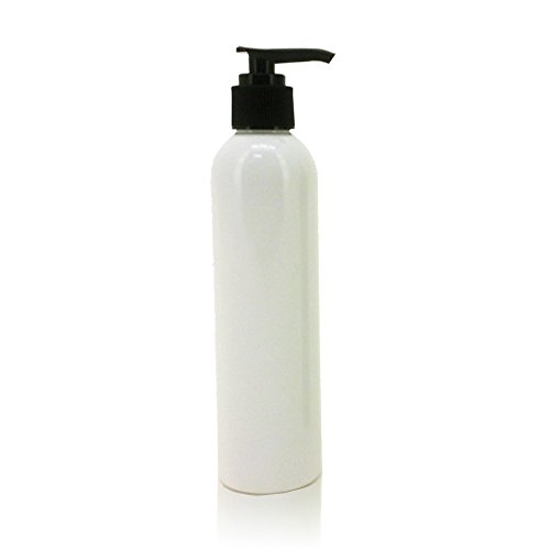 Massage Oil Bottle with Pump, 8 Ounce , White ()