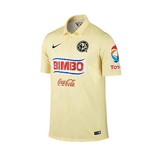 Nike Club America Short Sleeve Home Stadium Jersey-Boys (Lemon Chiffon) (XL)