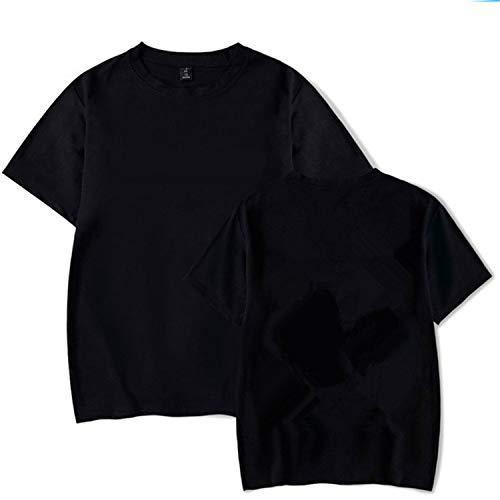 The small cat 100% Cotton Men Hoodies Sweatshirts-01,Black 3,L (Cat-ausschnitt)