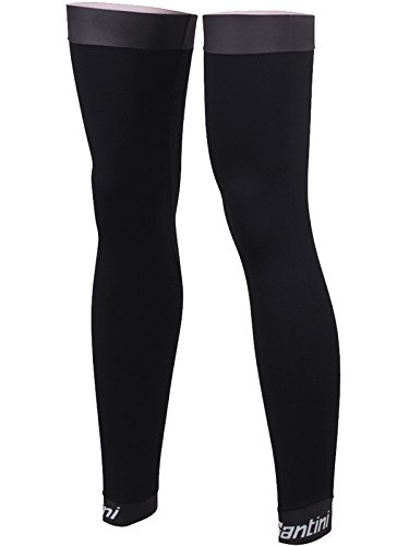 (Santini Black 365 Mid Season Leg Warmers - Pair (Xs/S, Black))