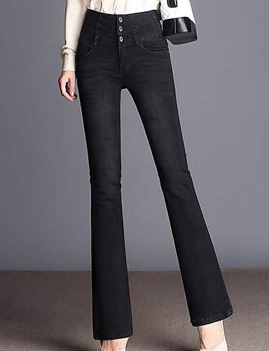 Taille Femme Unie Gray pour Haute Pantalon Jeans Couleur YFLTZ IwztpqW