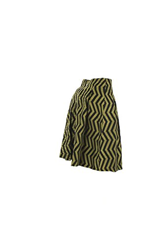 Gonna Donna Anonyme 42 Nero/verde U36fs021 Autunno Inverno 2016/17