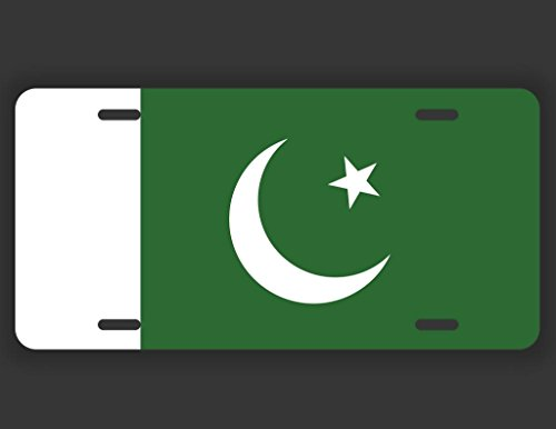 JMM Industries Pakistan Flag License Plate Tag Vanity Novelty Metal | Quality UV Resistant Printed Metal | 6-Inches By 12-Inches | Car Truck RV Trailer Wall Shop Man Cave | UVP070 (Printed Kameez)