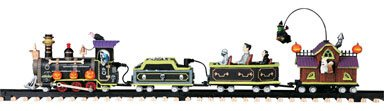 Lemax 94954 SPOOKY TOWN EXPRESS TRAIN SET Battery Operated Halloween Decor