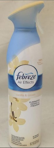Febreze Air Effects Air Freshener 9.7oz Cans Assorted Scents Limited Edition (Vanilla & Cream)