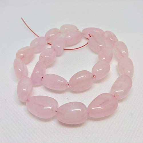 Rose Quartz Nugget Bead 8 inch Strand for Jewelry Making Pretty in Pink 010472HS