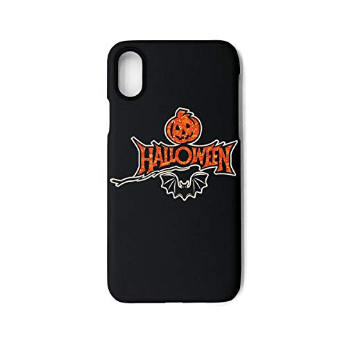 Vekq iPhone X Case Happy Halloween bat Pumpkin Art Shock Absorption Soft TPU Protective Back Cover Compatible with iPhone iPhone X ()